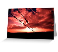 Fire Wire Greeting Card