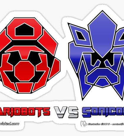 Console Wars: Mariobots vs Sonicons! Sticker