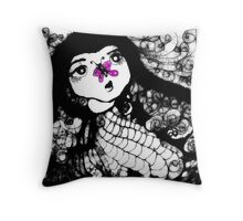 Viola Flutterby Throw Pillow