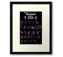 Sign Language Poster Framed Print
