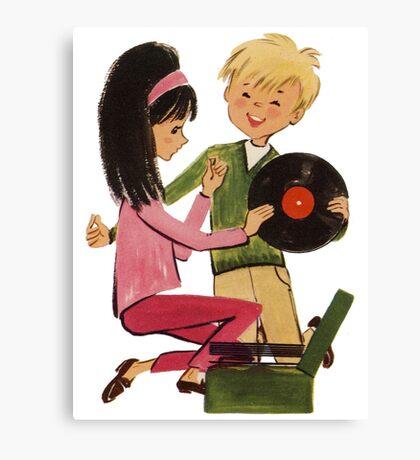 Kids Vinyl Record Love Canvas Print