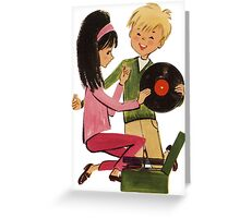 Kids Vinyl Record Love Greeting Card