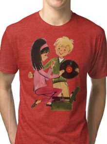 Kids Vinyl Record Love Tri-blend T-Shirt