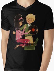Kids Vinyl Record Love Mens V-Neck T-Shirt