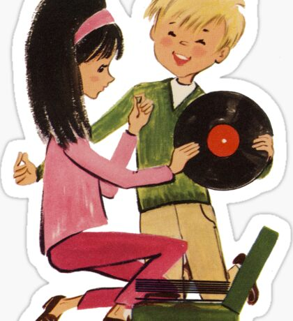 Kids Vinyl Record Love Sticker