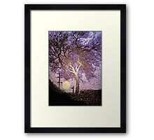 Tree. Sign. Moon. Framed Print