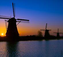 Windmills of Kinderdijk - Netherlands by Yen Baet