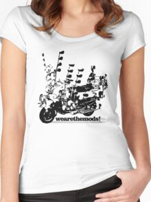 We Are The Mods Vespa Scooter Women's Fitted Scoop T-Shirt