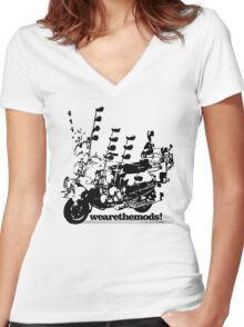 We Are The Mods Vespa Scooter Women's Fitted V-Neck T-Shirt