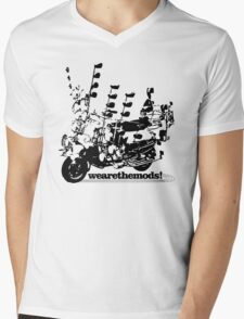 We Are The Mods Vespa Scooter Mens V-Neck T-Shirt