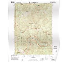 USGS Topo Map Oregon Silver Peak 281512 1998 24000 Poster