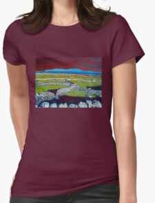Stone Walls and the Grass is Green II Womens Fitted T-Shirt