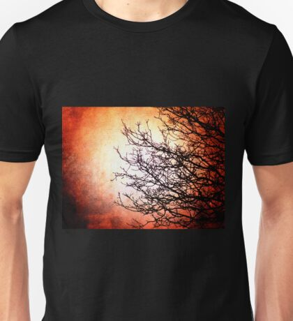 Red and Dead Branches Unisex T-Shirt