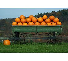 Blue Ridge Wagon Photographic Print