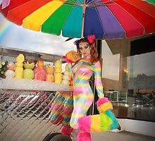 A Rainbow Rave Fruit Stand - Amanda Darling by Bumzigana