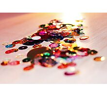 glitter trail of light Photographic Print