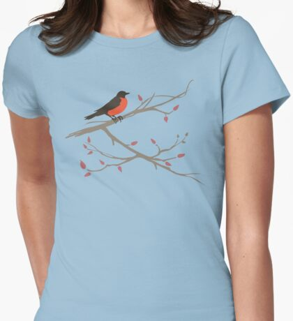 First Robin of Spring Womens Fitted T-Shirt