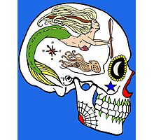 Aviation Mechanic - Day of the Dead Skull Photographic Print