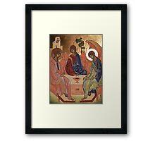 Icona della trinità Framed Print