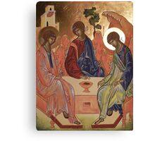 Icona della trinità Canvas Print
