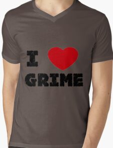 I Love Grime Mens V-Neck T-Shirt