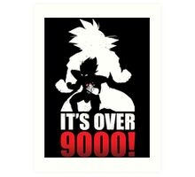 Over 9000 Art Print