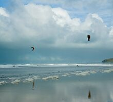 Kite Surfers by David Wilkins