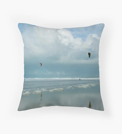 Kite Surfers Throw Pillow