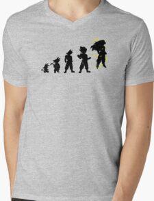Monkey Evoltuion Mens V-Neck T-Shirt