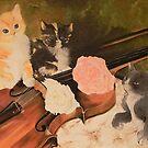 gattini con violino by Margherita Bientinesi