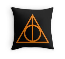 Deathly Hallows orange Throw Pillow
