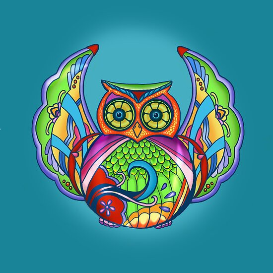 Jeweled Owl by M McKeithen