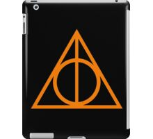 Deathly Hallows orange iPad Case/Skin
