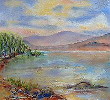Baza Lake- A watercolour revisited by bevmorgan