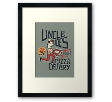 Retro Uncle Joe's Pizza Delivery Framed Print