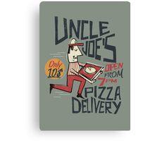 Retro Uncle Joe's Pizza Delivery Canvas Print