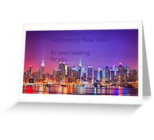 Welcome to New York - Taylor Swift Greeting Card