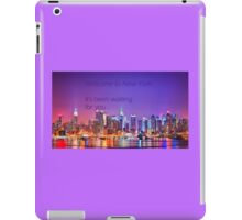 Welcome to New York - Taylor Swift iPad Case/Skin