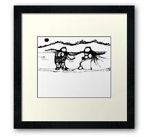 SKATING COUPLE Framed Print