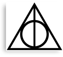 Deathly Hallows symbol Canvas Print