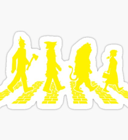 Yellow Brick Abbey Road Sticker