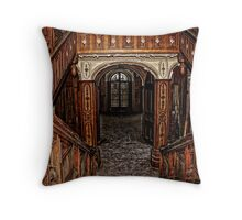Magnificense in wood Throw Pillow