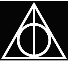 Deathly Hallows white Photographic Print