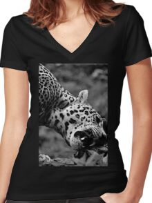 Chow Time Women's Fitted V-Neck T-Shirt