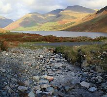 Scafell across Wastwater by Linda Lyon