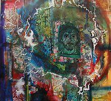 Monks and Mandalas 2 by Marti   Schmidt