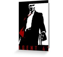 Agent 47 Greeting Card