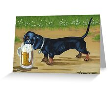 For Doxies lovers Greeting Card