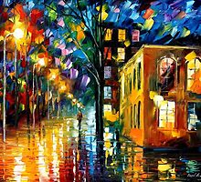 Only Love - original oil painting on canvas by Leonid Afremov by Leonid  Afremov