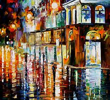 West Palm Beach City Place - original oil painting on canvas by Leonid Afremov by Leonid  Afremov